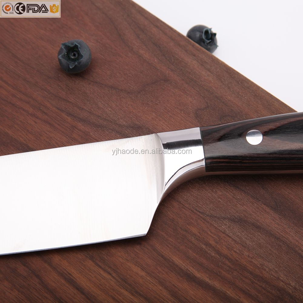 Amazon Low MOQ professioanl 7cr17 chef knife 8 inch with german steel