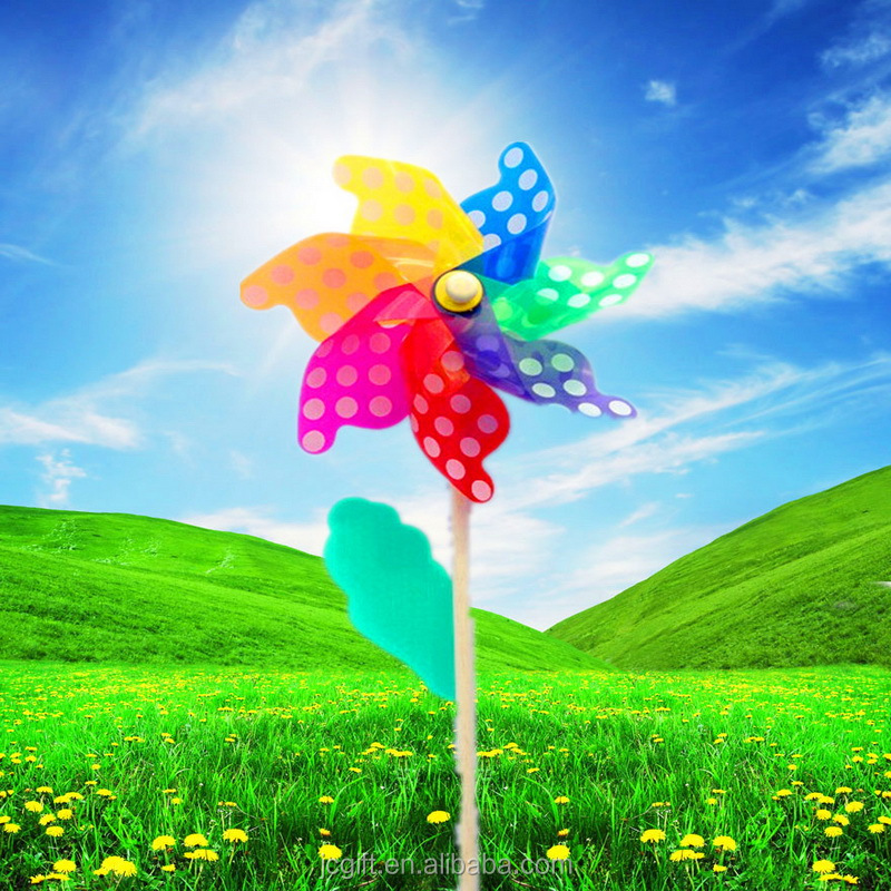 Flower garden decoration plastic Windmill toy China Product Kids Toy Windmills