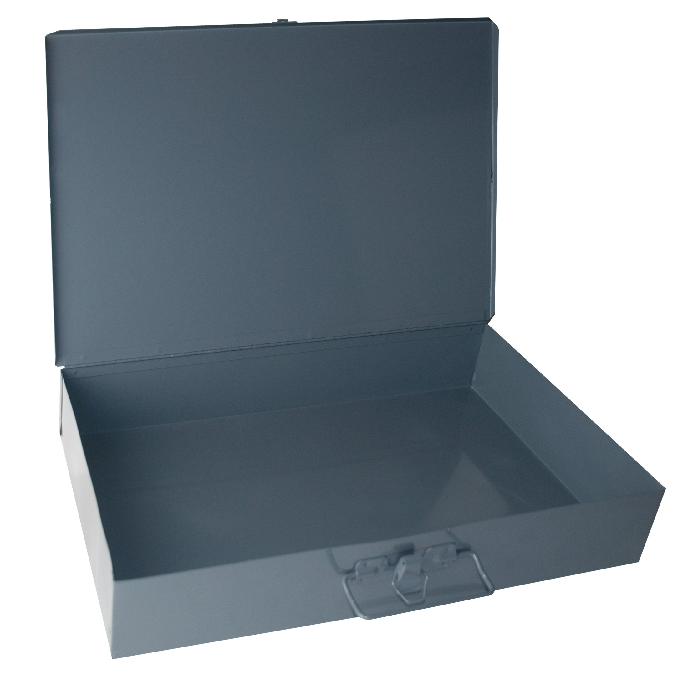"Durham 123-95-IND Gray Cold Rolled Steel Individual Large Empty Metal Shell, 18"" Width x 3"" Height x 12"" Depth"