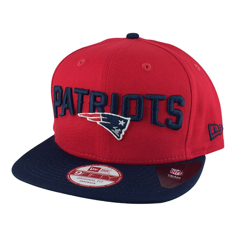 New Era Og Fits New England Patriots Red Navy Visor Team Flip Undervisor  Snapback Hat Cap 2b92d3edf