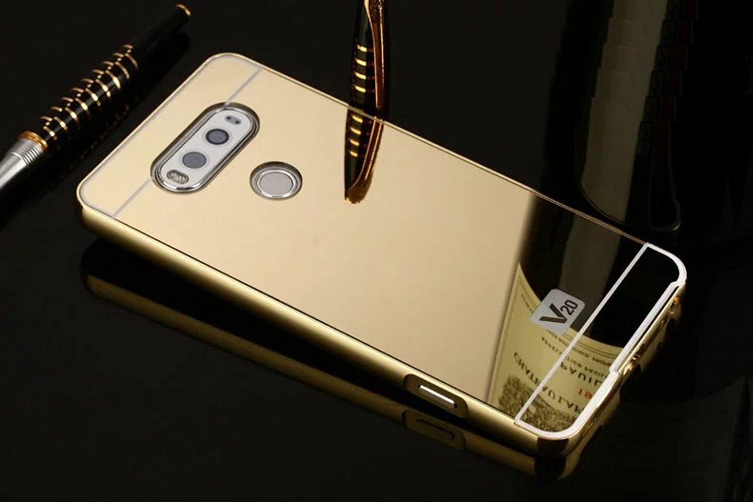 Cheap Gold Mirror Aluminum Find Deals On Line Samsung Note 4 Backcase With Metal Aluminium Bumper Black Get Quotations Lg V20 Case Ultra Slim 2 In 1 Plated Frame