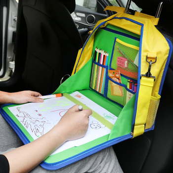 Kids Baby Car Back Seat Organizer Lap Desk Travel Snack Play Tray