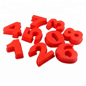 Silicone 3D Number 0-9 Shape Cake Baking Fondant Cake Decorating Chocolate Molds