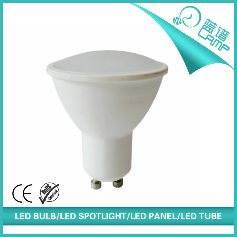 400lm 5W GU10 2835SMD LED <strong>spotlight</strong> Ra>80, IC driver, white aluminium housing led lighting