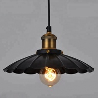 American industrial pot lid creative personality single head iron pendant lamp