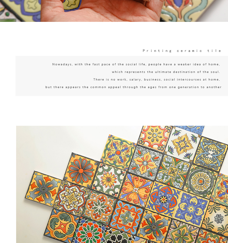 100*100mm small size antique decorative ceramic wall tiles