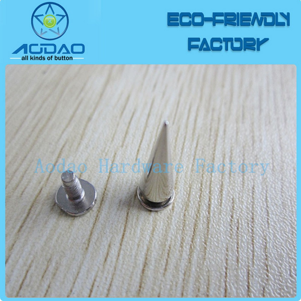 Apparel 10mm Silver Cone Studs and Spikes Screwback DIY Craft