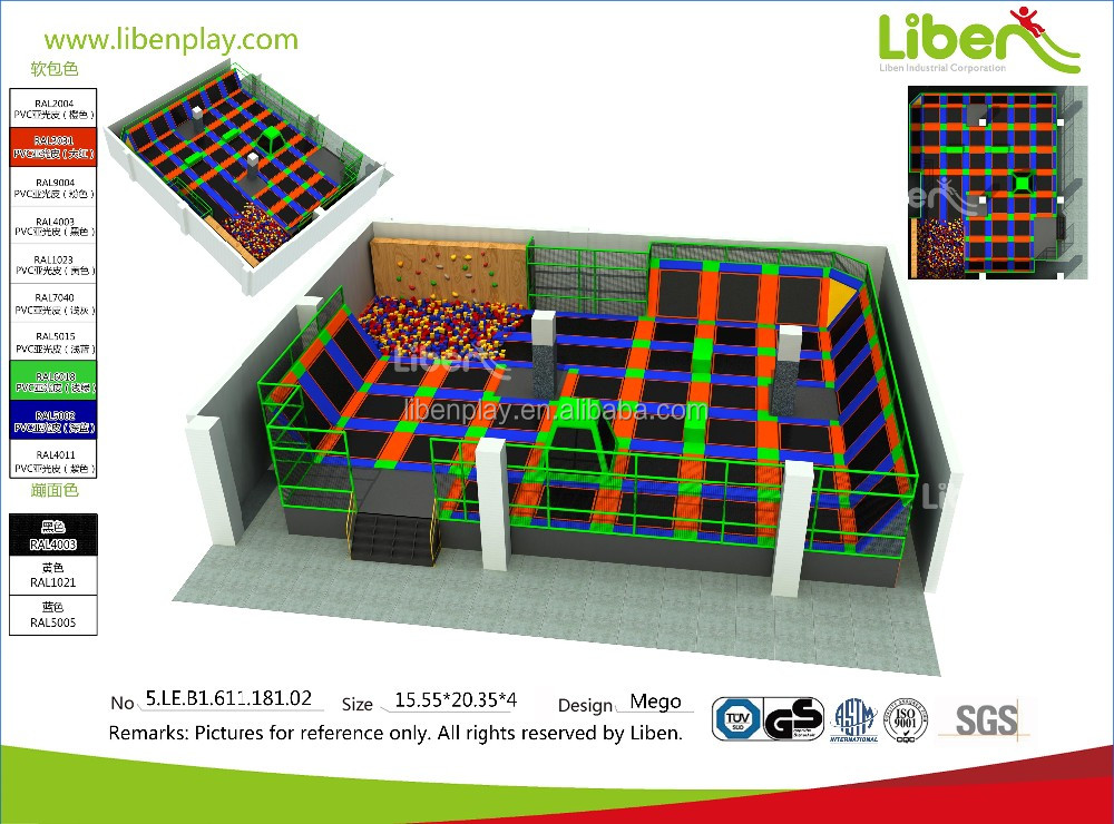 China Best Factory price indoor trampoline park for Canada