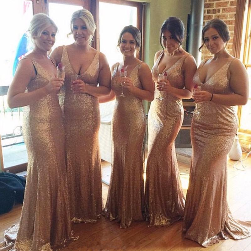 gold sequin bridesmaid dresses picture 0ca2de7d79b9