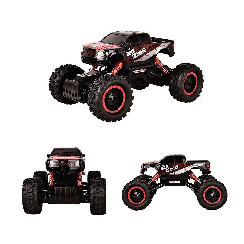 TTLIFE Rock Crawler RC Car - 4x4 Remote Control Car - 1/14 Rock Master Rock Crawler with 2.4Ghz Controller(black)