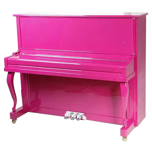 UP-123 Colorful Upright Piano with Music Frankfurt Music Fair piano cover accessories