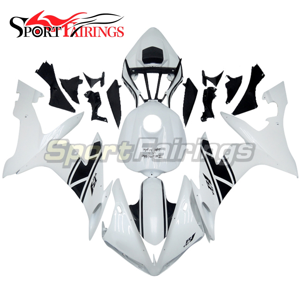 Full Fairings For Yamaha YZF R1 04 05 06 ABS Plastic Injection Motorcycle Fairing Kit Body Kits White Carenes New