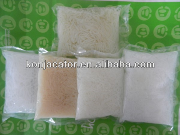 Bag packaging and noodles product type high dietary fiber konjac noodles