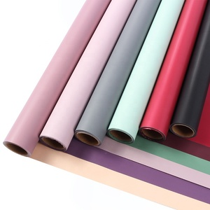 60CM*10M high quantity Korean style two sides 2 tone colors waterproof bouquet flower wrapping rolling paper