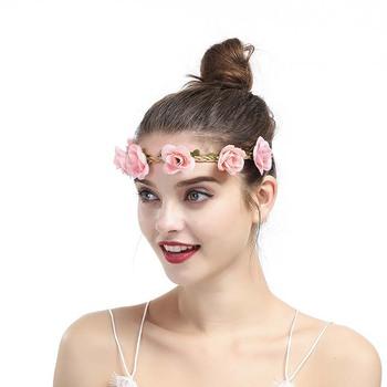 01a21dadc88 Wholesale custom charming headbands flower plastic headband women flower  headband hair accessories
