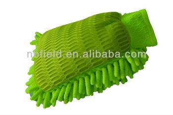 Rainwipes Dual Surface Microfiber Car Wash Mitt Green