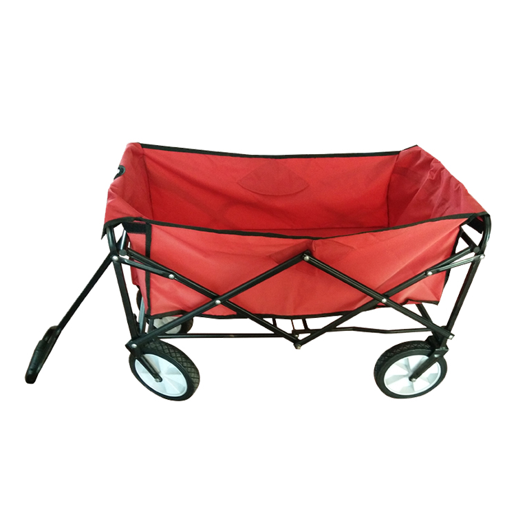 Folding wagon 4 wheels kids children garden tool carts