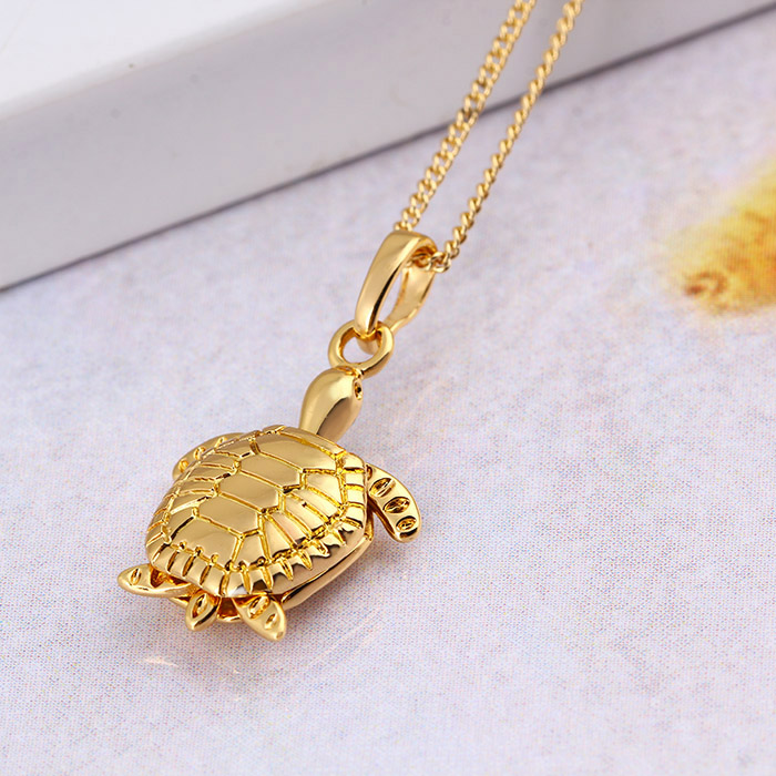 31059-Xuping Exquisite gold tortoise jewelry pendant charm