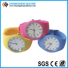 Kids favourite the most fashion candy color silicone wrist watch digital watch ajustable eco-friendly FDA silicone child's watch