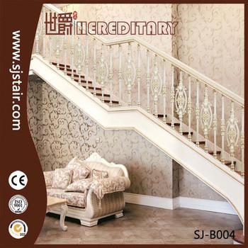 Decorative Luxury Precast Aluminum Balusters For Indoor Stair Railing