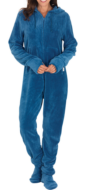 Snuggle Women Polar Fleece Thermal Footed Pajamas - Buy Cheap ...