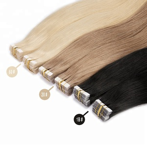 Skin weft invisible tape remy hair extensions 100% human hair