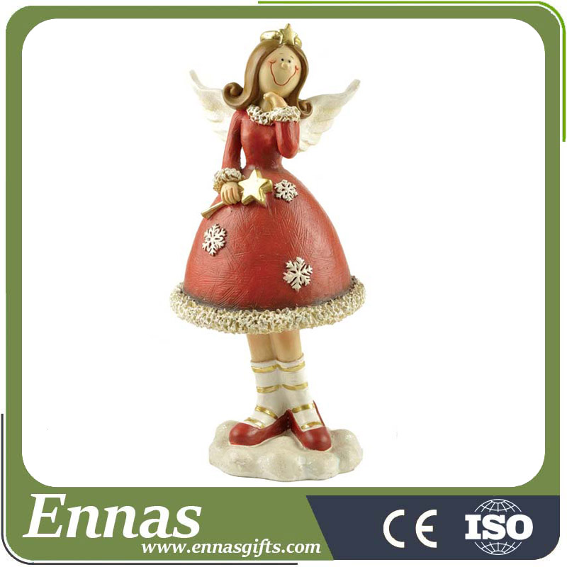 Wholesale Decoration Resin Christmas Angel Figurine