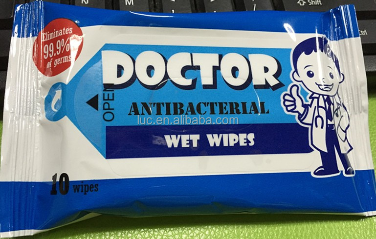 good quality 10 pcs intimate antibacterial wipes antibacterial material plastic antibacterial surface cleaning wipes