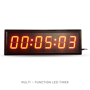 Big digit high brightness 6 Digit 3 Inch SportsTabata Timer GYM Timer LED Countdown Clock stopwatch for fitness centre