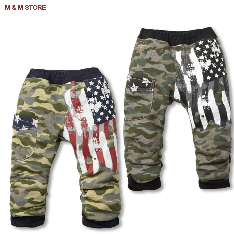 2016 new boys pants clothing kids clothes girls camouflage leisure flag terry children leisure trousers