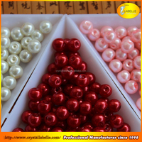 Professional Custom Pearls Button Shape Half Pearl Beads