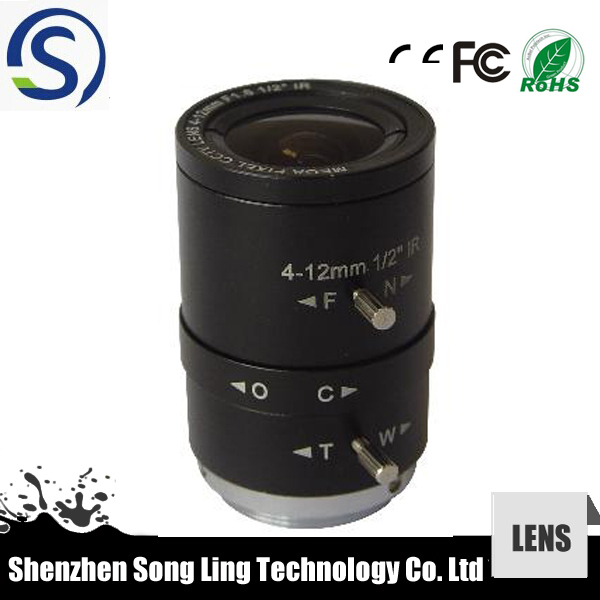 "4-12mm cctv lens 1/2"" ir filter mega pixels cs mount for camera"