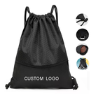 Reasonable price nylon drawstring bag with zipper polyester drawstring backpack
