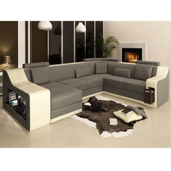Modern Sofa Set 7 Seater Genuine Leather 2018 Newest Luxury Led Lamp U  Shape Leather Sofa - Buy Beds Sofa Set,Couch Living Room Sofa,Leather Sofa  Set ...