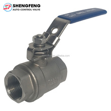 Stainless Steel Penuh <span class=keywords><strong>Port</strong></span> 1000PSI 2PC Ball Valve