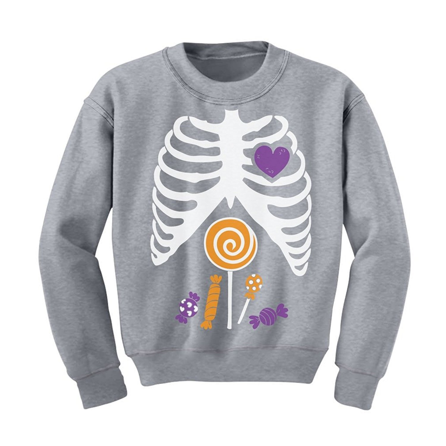 8158bf68ea Tstars Children Candy Rib-Cage X-Ray Skeleton Halloween Kids Sweatshirt