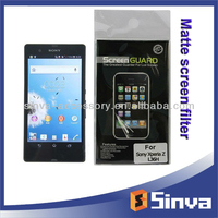 clear or matte screen protector for sony ericson xperia mini pro with retail packing, custom for any mobile phone models