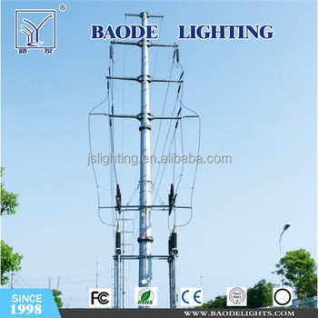 Tubular Steel Transmission Tower Supplied by Audited Manufacturer on China Market