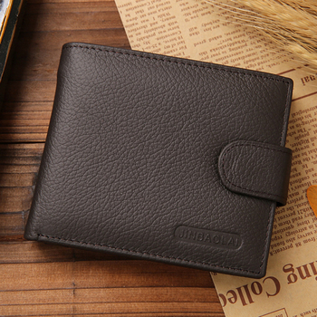 f9fffb7d907d Jinbaolai black brown men s genuine leather hasp wallet original leather  purse