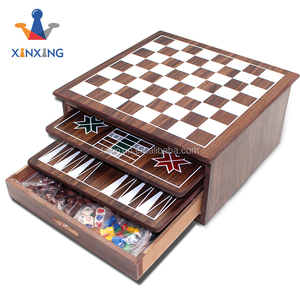 wooden 12 in 1 chess Game Set 8251