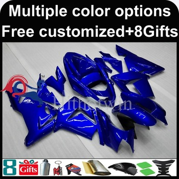blue Body motorcycle cowl for Kawasaki ZX-10R 2004-2005 04 05 ZX-10R 2004 2005 04-05 ABS Plastic Fairing