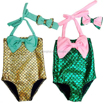 f7d10e0404 2016 Newest Kids Baby Girls Little Mermaid Bikini Set Swimwear Costume  Swimsuit Bathing Suit