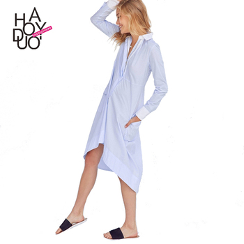 HAODUOYI Women Dress Streetwear Brief Ladies Solid Color Female Midi Dress Casual Loose Ladies Vestidos for Wholesale
