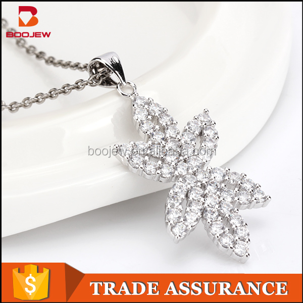 Girlfriend gift aaa cubiz zirconia diamond 925 sterling silver luxury handmade necklaces jewellery