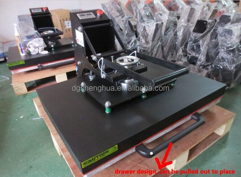 Grande formato 100x80 100x70 100x60cm t-shirt da impressão por sublimação máquina da imprensa do calor com o manual