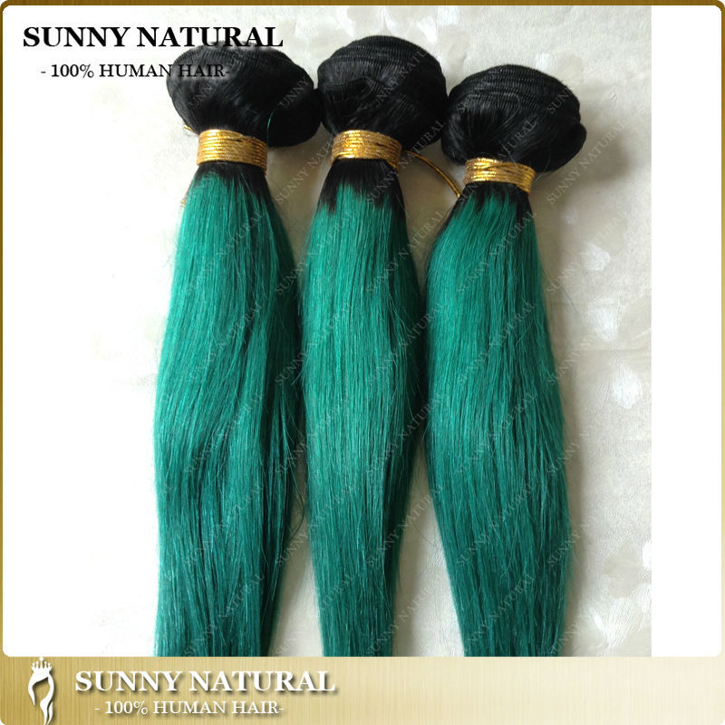 Two tone 1bturquoise brazilian remy hair extension human hair two tone 1bturquoise brazilian remy hair extension human hair weft pmusecretfo Images