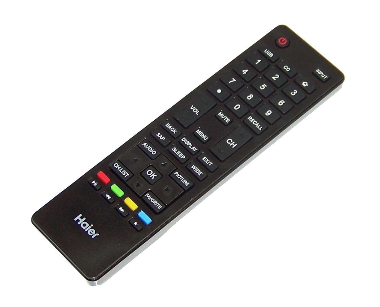 OEM Haier Remote Control Originally Shipped With: 32E3000D, LE46H32800B, 40E3500C, LE40D32810, LE55F32800C, LE24H3380