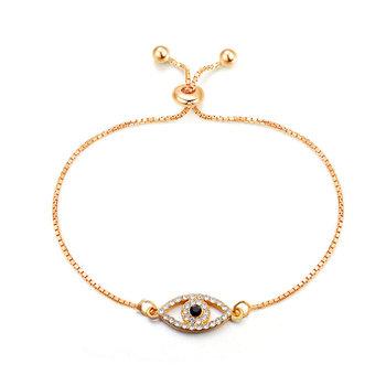 2018 New Design Gold Chain Crystal Turkish Evil Eye Bracelet - Buy Evil Eye  Bracelet,Women Evil Eye Bracelet,Cheap Evil Eye Bracelet Product on