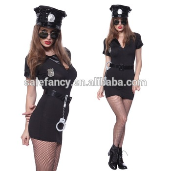 lady womens bad cop sexy police costume women halloween costume QAWC-8646