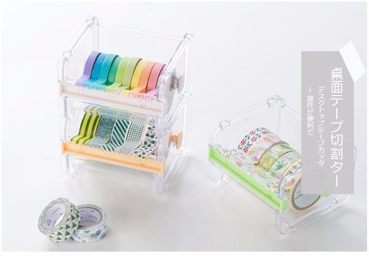 Practical Transparent Plastic Adhesive Tape Dispenser Office